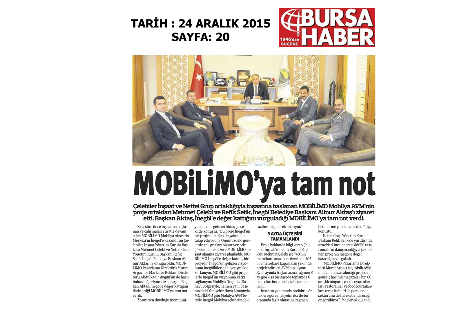 MOBİLİMO'YA TAM NOT